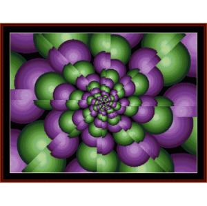 Fractal 63 cross stitch pattern by Cross Stitch Collectibles | Crafting | Cross-Stitch | Wall Hangings