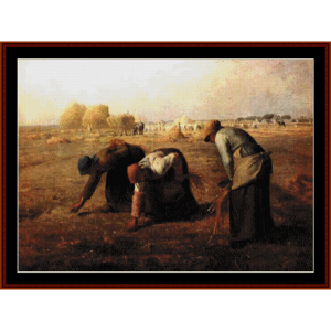 the gleaners - millet cross stitch pattern by cross stitch collectibles