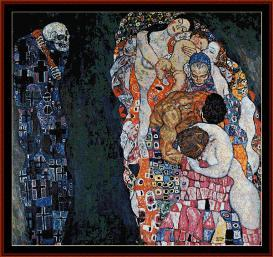 Life and Death - Klimt cross stitch pattern by Cross Stitch Collectibles | Crafting | Cross-Stitch | Wall Hangings