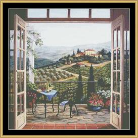 Balcony View Of Villa | Crafting | Cross-Stitch | Other