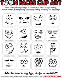 Cartoon Faces Clip Art | Other Files | Clip Art