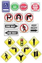 Traffic Signs Icons | Other Files | Stock Art