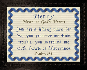 Name Blessings - Henry | Crafting | Cross-Stitch | Religious