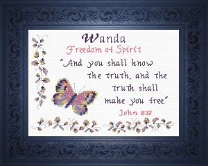 Name Blessings - Wanda | Crafting | Cross-Stitch | Religious