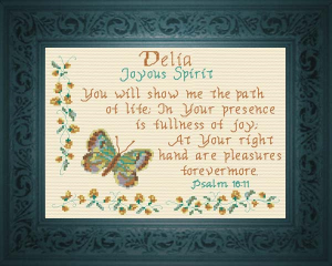 Name Blessings - Delia | Crafting | Cross-Stitch | Religious