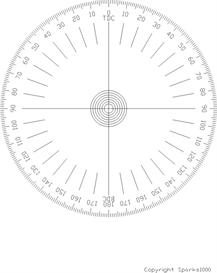 Printable Cam Degree Wheels and Protractors | Other Files | Patterns and Templates