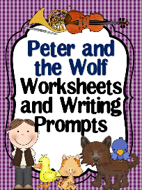 peter and the wolf worksheets and writing prompts