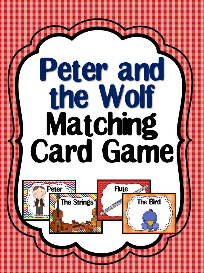 peter and the wolf matching card game