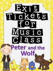 exit tickets for music class-peter and the wolf
