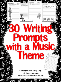 writing prompts with a music theme -set of 30