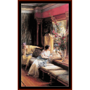 Vain Courtship - Alma Tadema cross stitch pattern by Cross Stitch Collectibles | Crafting | Cross-Stitch | Wall Hangings