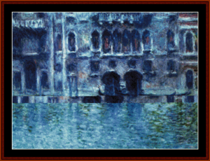 Palazzo da Mula Venice - Monet cross stitch pattern by Cross Stitch Collectibles | Crafting | Cross-Stitch | Wall Hangings