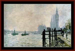 Thames at Westminster - Monet cross stitch pattern by Cross Stitch Collectibles | Crafting | Cross-Stitch | Other