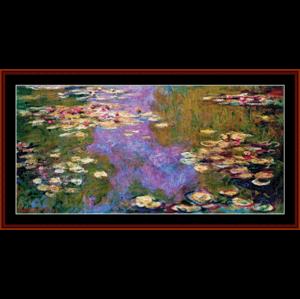 waterlilies 1919 - monet cross stitch pattern by cross stitch collectibles