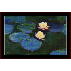 Waterlilies 1897 - Monet cross stitch pattern by Cross Stitch Collectibles | Crafting | Cross-Stitch | Wall Hangings