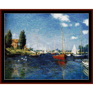 Argenteuil 1875 - Monet cross stitch pattern by Cross Stitch Collectibles | Crafting | Cross-Stitch | Wall Hangings