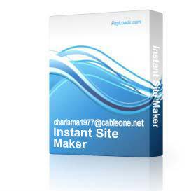 Instant Site Maker | Software | Utilities