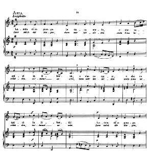 Lascia ch'io pianga, Low Voice in C Major, G.F.Haendel. Caecilia, Ed. André (1876) Vol. I, 906-c | eBooks | Sheet Music