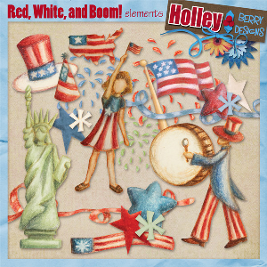 red, white, and boom! elements