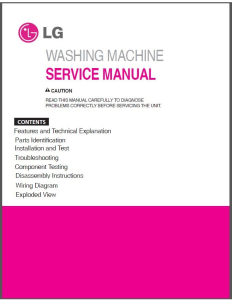LG F1222TD5 Washing Machine Service Manual Download | eBooks | Technical