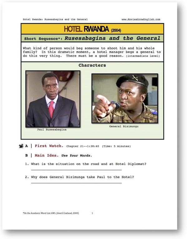 hotel rwanda essay example Anti essays offers essay examples to help students with their essay writing  hotel rwanda essay died hotel rwanda is a story based on this tragedy and it shows the crude and terrible reality thousands of people had to face in rwanda the movie is about.