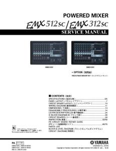 Yamaha EMX512SC EMX312SC Mixer Service Manual Download | eBooks | Technical