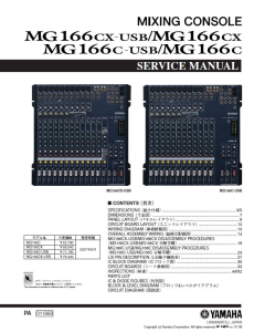 yamaha mg166cx mg166c usb mixing console service manual download