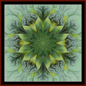 fractal 423 cross stitch pattern by cross stitch collectibles