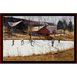 Farm Pond - Americana cross stitch pattern by Cross Stitch Collectibles | Crafting | Cross-Stitch | Other