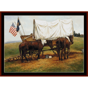Wagon Train - Americana cross stitch pattern by Cross Stitch Collectibles | Crafting | Cross-Stitch | Other