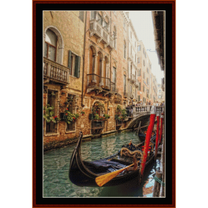 venice balconies - travel cross stitch pattern by cross stitch collectibles