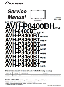 Pioneer AVH-P8400BH P8400BT P8450BT P8490BT 8400BT In-Dash Entertainment System Service Manual Download | eBooks | Technical