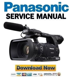 panasonic ag-ac160 professional camcorder service manual download