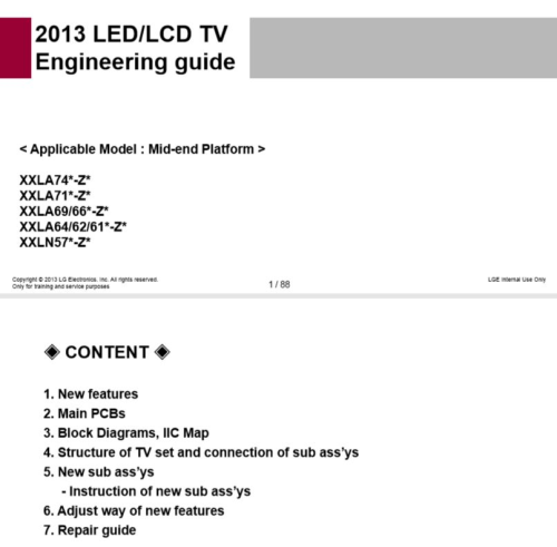 Second Additional product image for - LG 32LN577S TV Service Manual Download