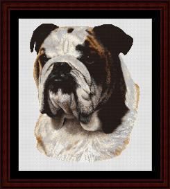 Bulldog - Robert J. May cross stitch pattern by Cross Stitch Collectibles | Crafting | Cross-Stitch | Wall Hangings