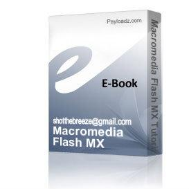 Macromedia Flash MX Tutorial | eBooks | Computers