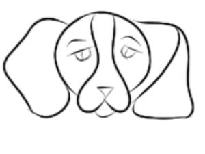 begging puppy for coloring