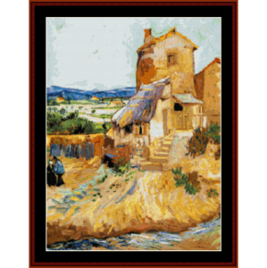 The Old Mill - Van Gogh cross stitch pattern by Cross Stitch Collectibles | Crafting | Cross-Stitch | Wall Hangings