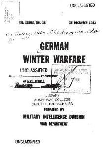 german winter warfare 1943