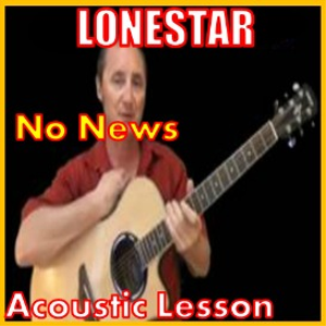 learn to play no news by lonestar