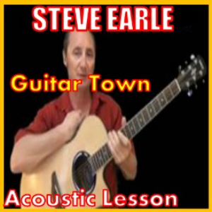 learn to play guitar town by steve earle