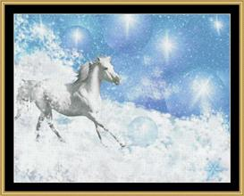 Galloping Winter Horse | Crafting | Cross-Stitch | Other