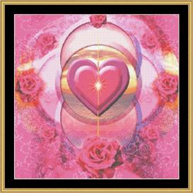 Pink Rings Of Love | Crafting | Cross-Stitch | Other