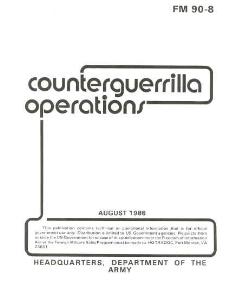 fm 90-8 counterguerrilla operations 1986