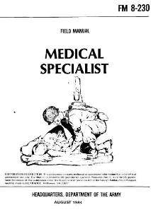 fm 8-230 medical specialist 1984