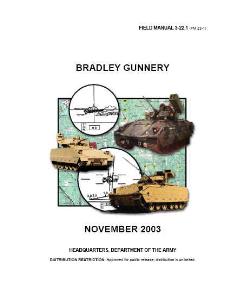 fm 3-22.1 bradley gunnery 2003