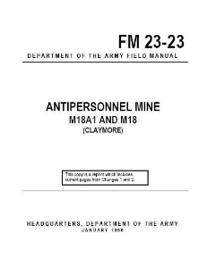 fm 23-23 antipersonnel mine m18a1 claymore 1966