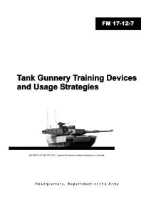 fm 17-12.7 tank gunnery training devices and usage strategies