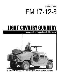 fm 17-12-8 light cavary gunnery