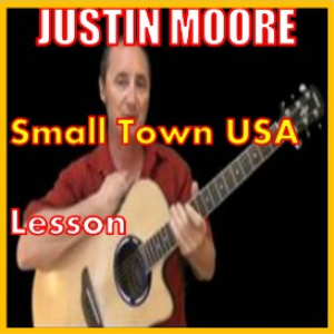 learn to play small town usa by justin moore
